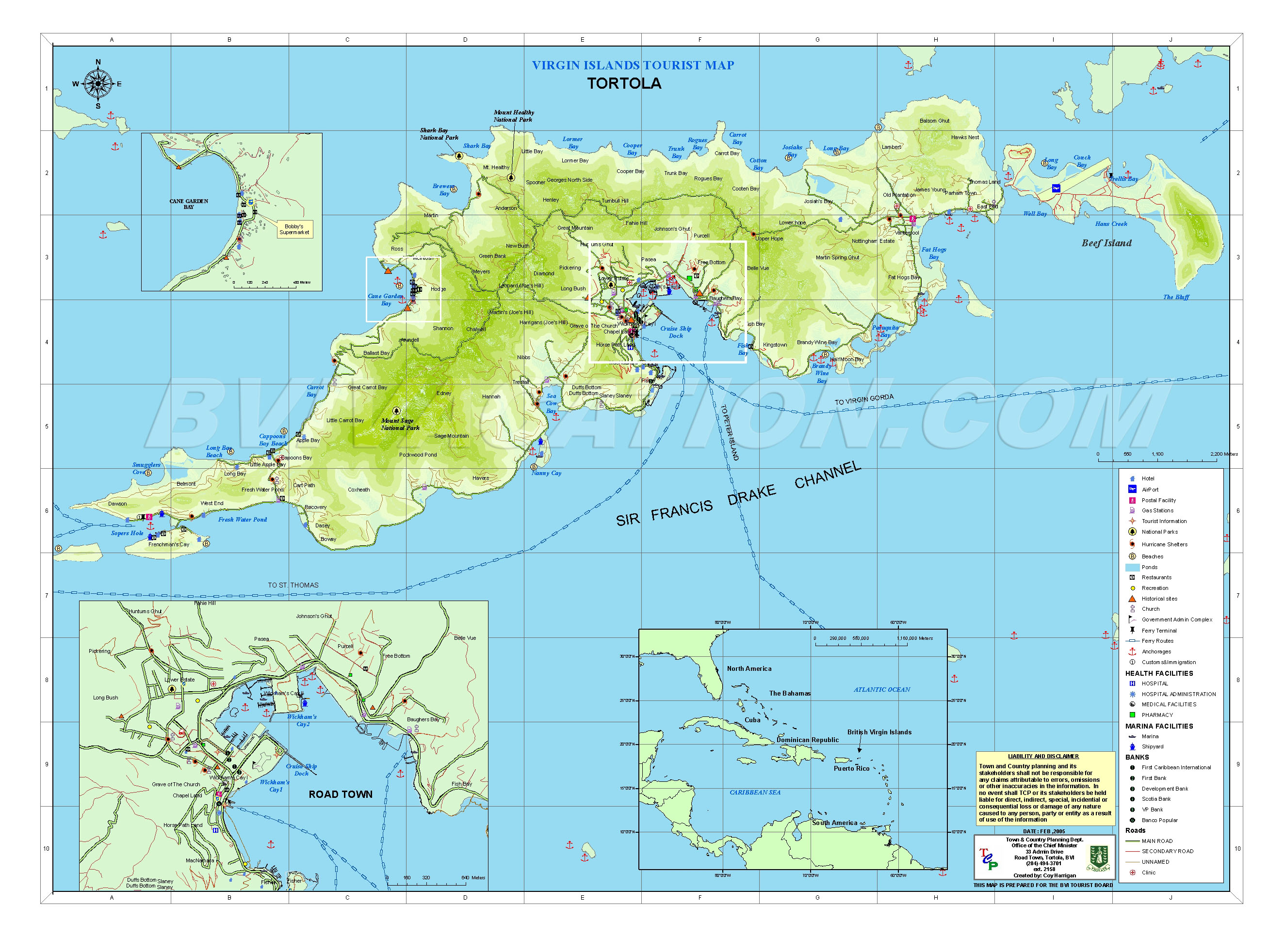 tortola map virgin gorda british virgin islands