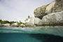swimming at the Baths, Virgin Gorda, British Virgin Islands