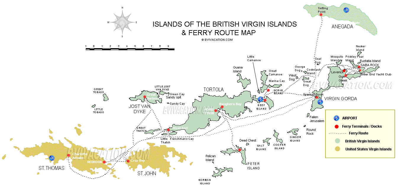 Bvi Islands Map